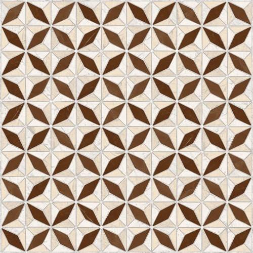 Carrelage imitation ciment géométrique 43x43 - Medix-Pr marron -   - Echantillon Vives Azulejos y Gres