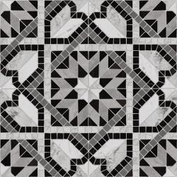 Carrelage style mosaïque étoilé 43.7x43.7 Cilena-Pr Negro -   - Echantillon Vives Azulejos y Gres