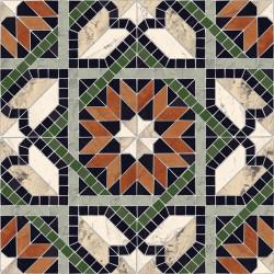 Carrelage mosaïque étoilé 43x43 Cilena Multicolor -   - Echantillon Vives Azulejos y Gres