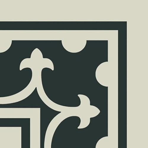 Carrelage imitation ciment coin décor blanc 20x20 cm PASION ESQUINA BLANCO - unité - Echantillon - zoom