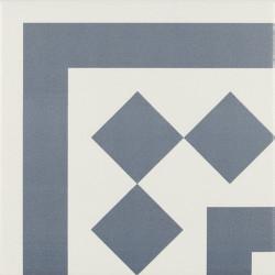 Carrelage d'angle 20x20 cm ANTIGUA AZUL - unité - Echantillon Ribesalbes