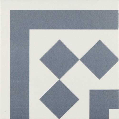 Carrelage d'angle 20x20 cm ANTIGUA AZUL - unité - Echantillon - zoom