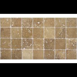 Carrelage pierre Travertin vieilli noce 10x10 cm - 0.  - Echantillon SF