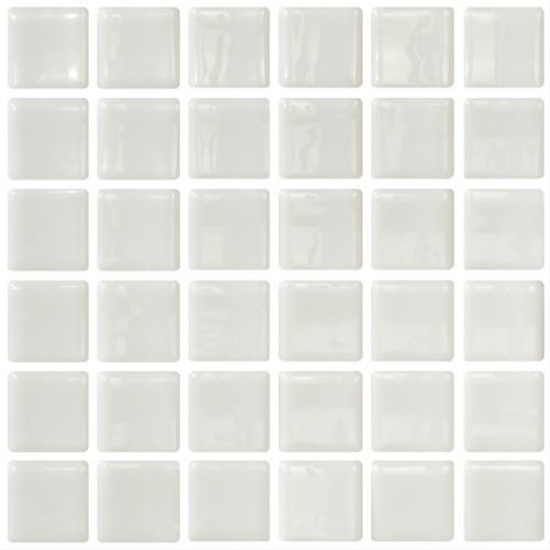 Mosaique blanche 5x5 sur trame 3 x3  BLANCO A-10 -   - Echantillon ASDC