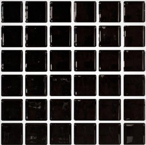 Mosaique noire 5x5 sur trame 3 x3  NEGRO A-11 -   - Echantillon - zoom