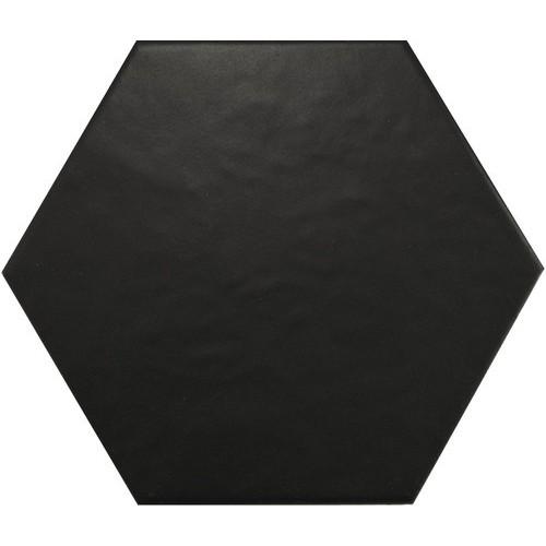 Carrelage hexagonal 17,5x20 HEXATILE NOIR MAT 20338 -    - Echantillon Equipe
