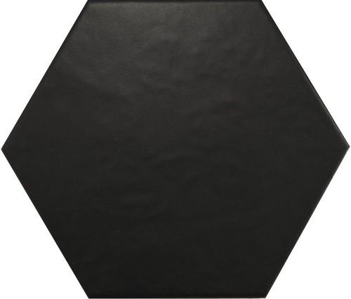 Carrelage hexagonal 17,5x20 HEXATILE NOIR MAT 20338 -    - Echantillon - zoom
