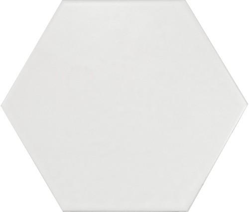 Carrelage hexagonal 17.5x20 Tomette design HEXATILE - BLANC CASSE MAT 20339    - Echantillon - zoom