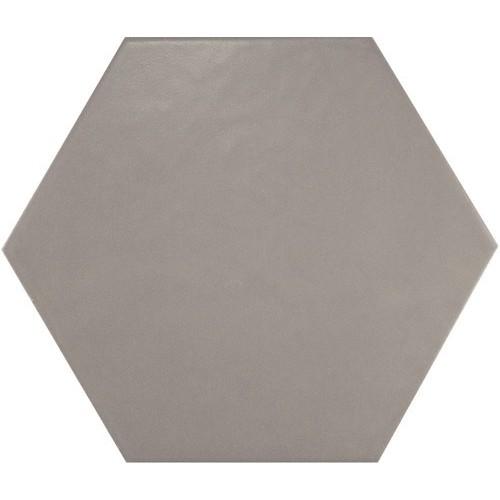 Carrelage hexagonal 17.5x20 Tomette design HEXATILE GRIS UNI 20340    - Echantillon Equipe