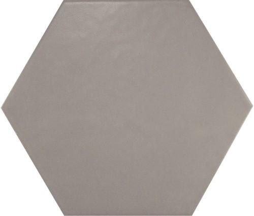 Carrelage hexagonal 17.5x20 Tomette design HEXATILE GRIS UNI 20340    - Echantillon - zoom