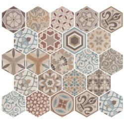 Carrelage hexagonal 17.5x20 Tomette Harmony Colours 21356    - Echantillon Equipe