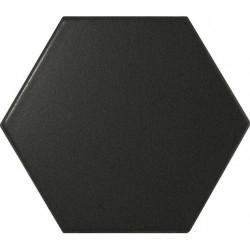 Faience SCALE HEXAGON BLACK MATT 21909 12.4x1 cm - - Echantillon Equipe