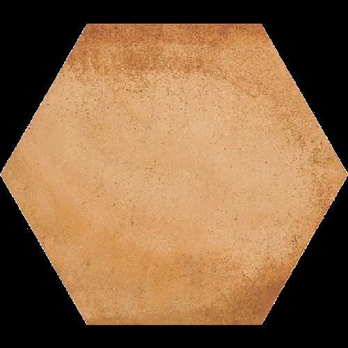 Carrelage hexagonal tomette décor 23x26.6cm BAMPTON Natural -   - Echantillon - zoom