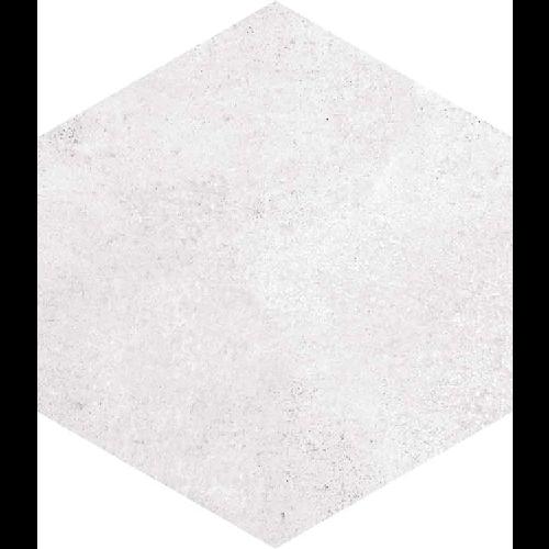 Carrelage hexagonal tomette blanche vieillie 23x26.6cm RIFT Blanche -   - Echantillon - zoom