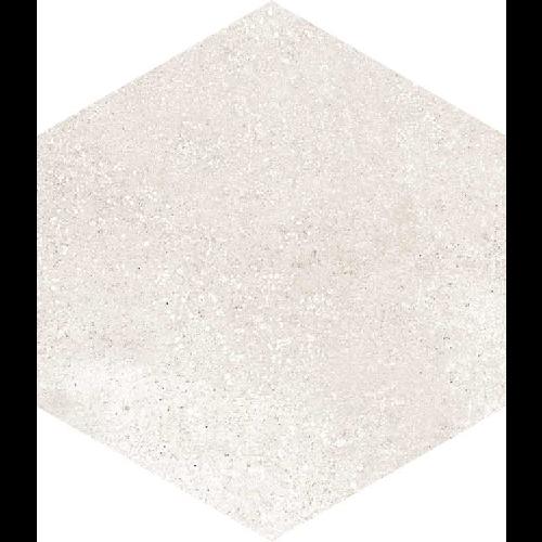 Carrelage hexagonal tomette crème vieillie 23x26.6cm RIFT Crema -   - Echantillon - zoom