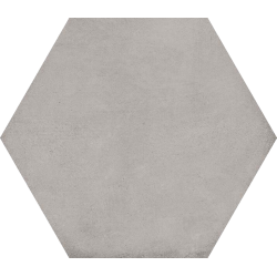 Carrelage hexagonal tomette décor 23x26.6cm BAMPTON Gris -   - Echantillon Vives Azulejos y Gres