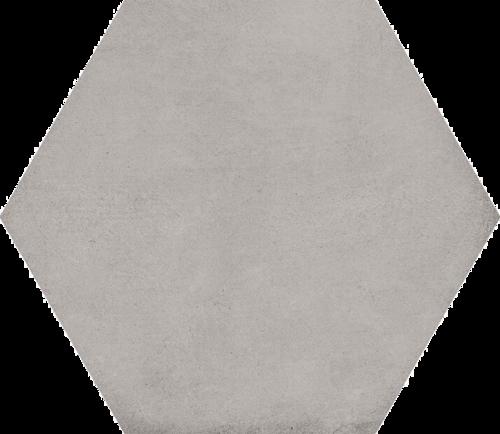 Carrelage hexagonal tomette décor 23x26.6cm BAMPTON Gris -   - Echantillon - zoom