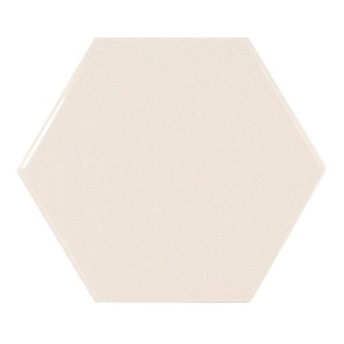 Carreau crème brillant 12.4x1 cm SCALE HEXAGON CREAM - - Echantillon Equipe