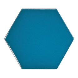 Carreau bleu électrique 12.4x1 cm SCALE HEXAGON ELECTRIC BLUE 23836 -  - Echantillon Equipe