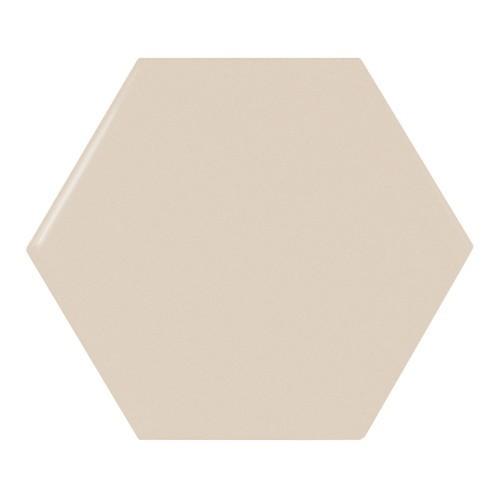 Carreau beige brillant 12.4x1 cm SCALE HEXAGON GREIGE -  - Echantillon Equipe