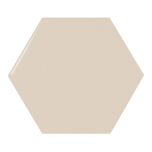 Carreau beige brillant 12.4x1 cm SCALE HEXAGON GREIGE -  - Echantillon - zoom