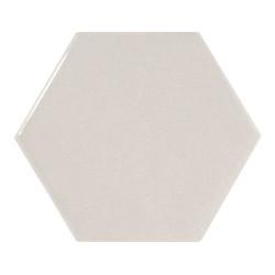 Carreau gris clair brillant 12.4x1 cm SCALE HEXAGON LIGHT GREY - 21912 -  - Echantillon Equipe