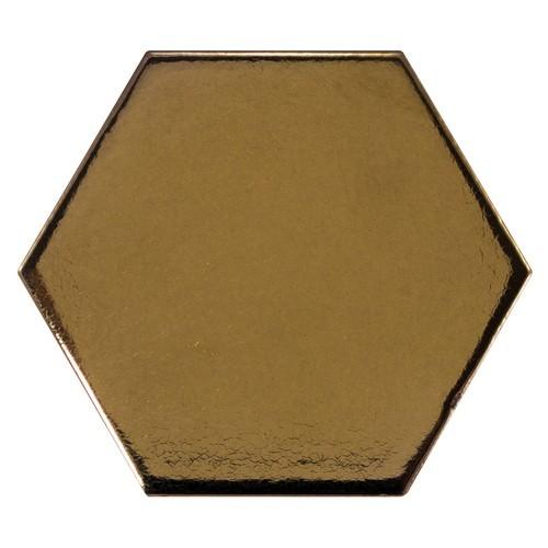 Carreau or métallisé 12.4x1 cm SCALE HEXAGON METALLIC 23837 -  - Echantillon Equipe