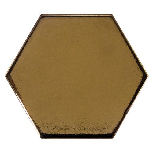 Carreau or métallisé 12.4x1 cm SCALE HEXAGON METALLIC 23837 -  - Echantillon - zoom
