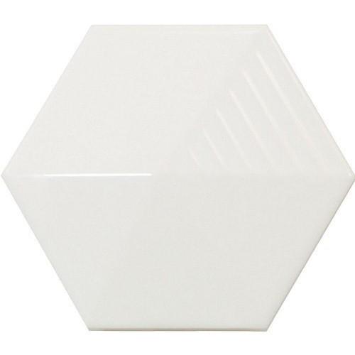 Carrelage effet 3D UMBRELLA WHITE MATT 12.4x1  - 23030 -   - Echantillon Equipe
