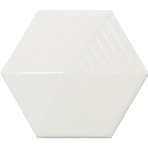 Carrelage effet 3D UMBRELLA WHITE MATT 12.4x1  - 23030 -   - Echantillon - zoom