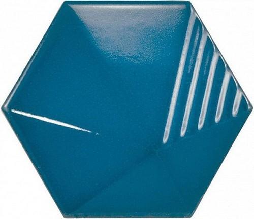 Carrelage effet 3D UMBRELLA ELECTRIC BLUE 12.4x1  - 23839 -   - Echantillon - zoom