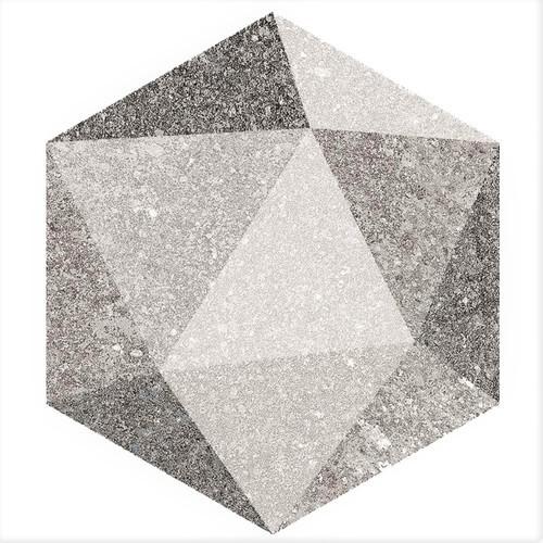 Carrelage hexagonal antidérapant 23x26.6cm ASTON HEXAGONO LUTON MULTICOLOR -   - Echantillon - zoom