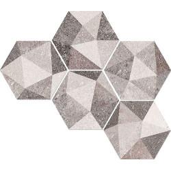 Carrelage hexagonal antidérapant 23x26.6cm ASTON HEXAGONO LUTON MULTICOLOR -   - Echantillon Vives Azulejos y Gres