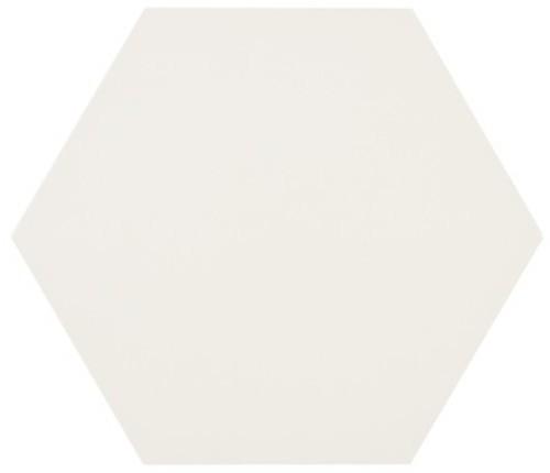 Tomette blanche MERAKI BASE BLANCO 19.8x22.8 cm -   - Echantillon - zoom