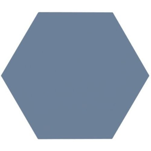 Tomette unie bleue série dandelion MERAKI AZUL BASE 19.8x22.8 cm -   - Echantillon Bestile
