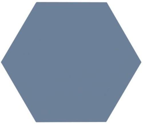 Tomette unie bleue série dandelion MERAKI AZUL BASE 19.8x22.8 cm -   - Echantillon - zoom