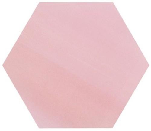 Tomette unie rose série dandelion MERAKI ROSA BASE 19.8x22.8 cm -   - Echantillon - zoom