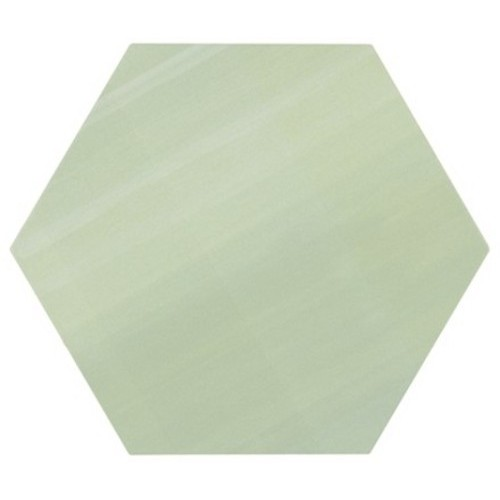 Tomette unie verte série dandelion MERAKI VERDE BASE 19.8x22.8 cm -   - Echantillon Bestile