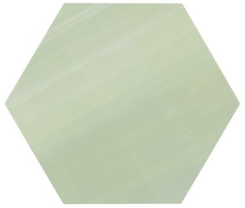 Tomette unie verte série dandelion MERAKI VERDE BASE 19.8x22.8 cm -   - Echantillon - zoom