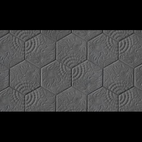 Pavé Gaudi hexagonal de Barcelone 14.4x25 cm ép. 3 cm - unité - Echantillon - zoom