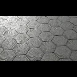 Pavé Gaudi hexagonal de Barcelone 14.4x25 cm ép. 3 cm - unité - Echantillon SAS-SA