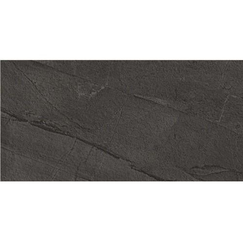 Carrelage moderne extérieur NOIR GRAPHITE 30x60 cm antidérapant WORLD FLYSCH R12 -   - Echantillon - zoom