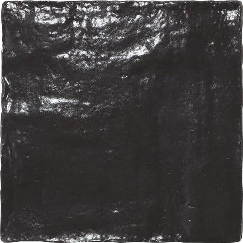 Carrelage effet zellige 10x10cm MALLORCA BLACK 23262 - 0.  - Echantillon - zoom