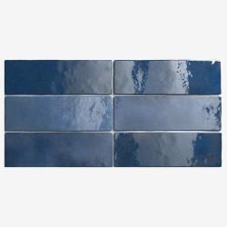 Carrelage effet zellige 6.5x20 ARTISAN BLEU COLONIAL 24470 - 0.  - Echantillon Equipe