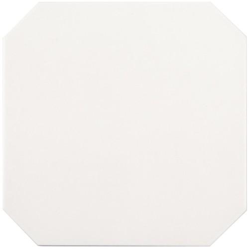 Carrelage 20x20 blanc octogone avec cabochons CERAME BRILLANT -   - Echantillon - zoom