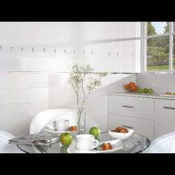 Faience unie Blanco Brillo 20x50 cm -   - Echantillon Baldocer