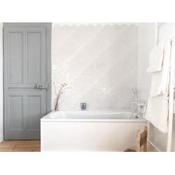 Carreau écailles blanches brillantes 30x30 SCALE GLOSS WHITE -    - Echantillon Realonda