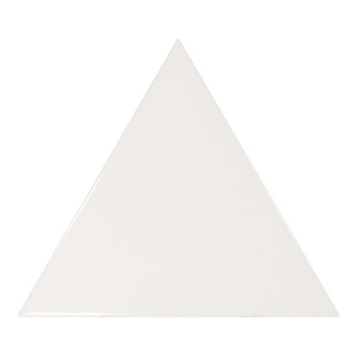 Carreau blanc brillant 1 x12.4cm SCALE TRIANGOLO WHITE -  - Echantillon Equipe