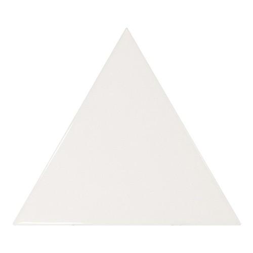Carreau blanc brillant 1 x12.4cm SCALE TRIANGOLO WHITE -  - Echantillon - zoom
