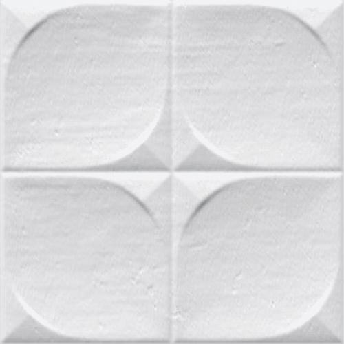 Faience murale brillante blanche SINDHI 13x13cm -   - Echantillon - zoom